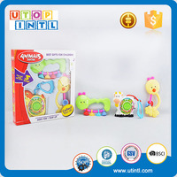 2 Styles assorted cartoon baby rattle with music and light and battery