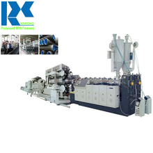 Siemens PLC system enhanced, double wall corrugated piping extrusion linedrainage pipe making machine line