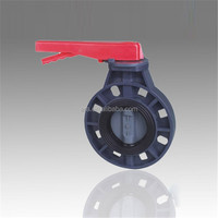 2016 manufacture plastic Best price valve butterfly