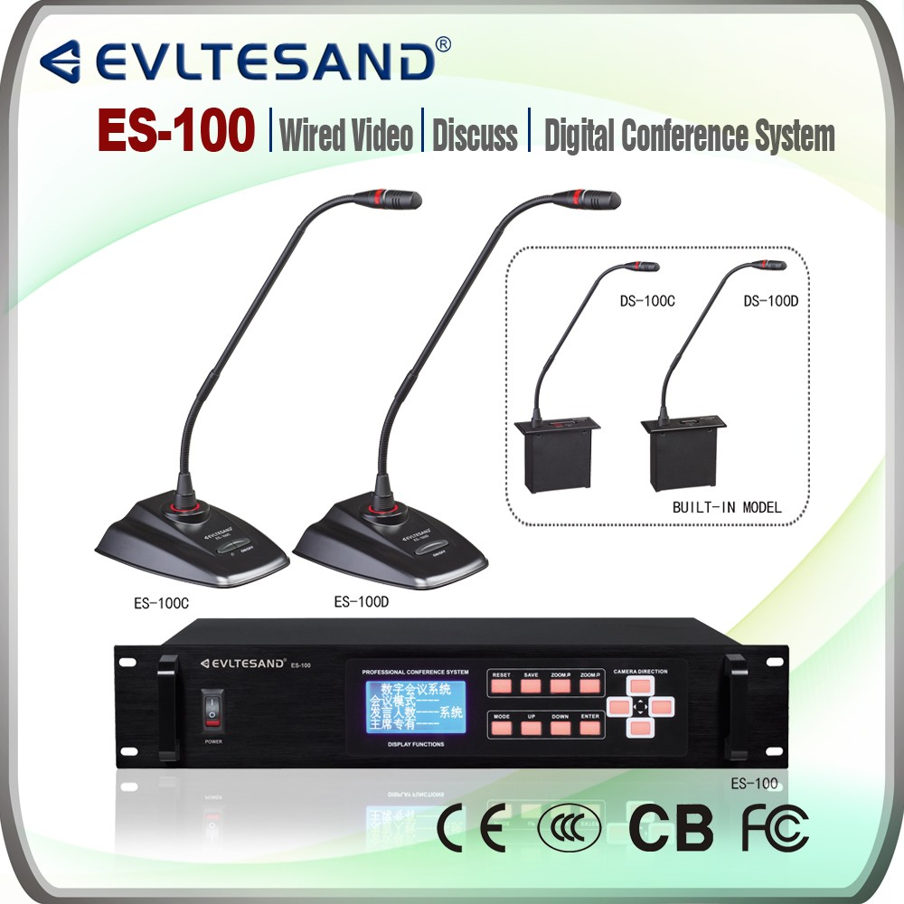 ES-100 wired video discussion digital conference system