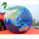 Hot Air Topographical Map Printed Earth Globe Balloon Fabric , Inflatable Earth Planet Model With UV Protective Printing