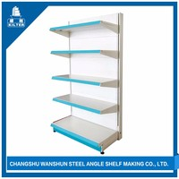 new style 3 layer angle iron shelf with iron stand designs