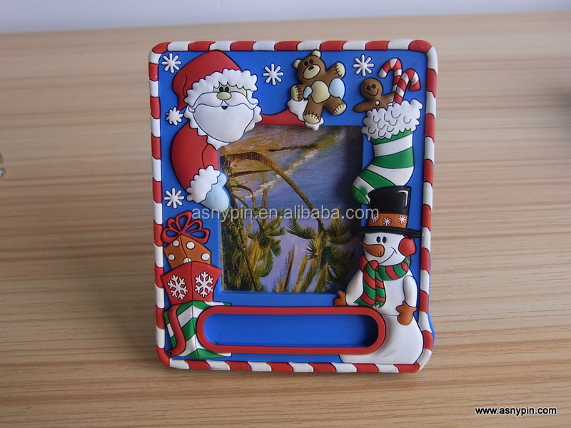 soft pvc santa clause christmas photo frame