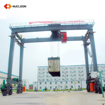50T 40 Ton Tire Type Double Girder Containers Gantry Crane