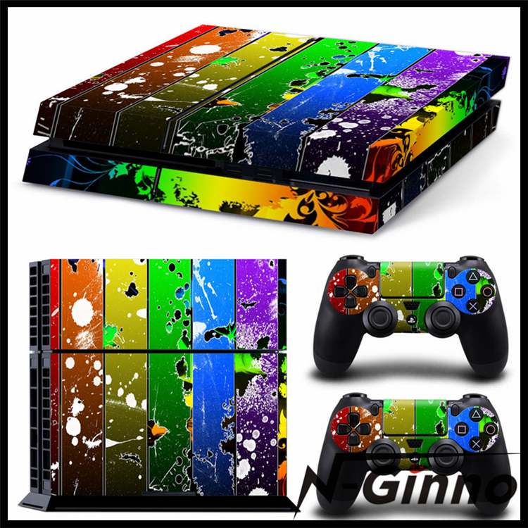 Vinyl Decal Skin Sticker for Sony PlayStation 4 PS4 Console And 2 Dualshock Controllers