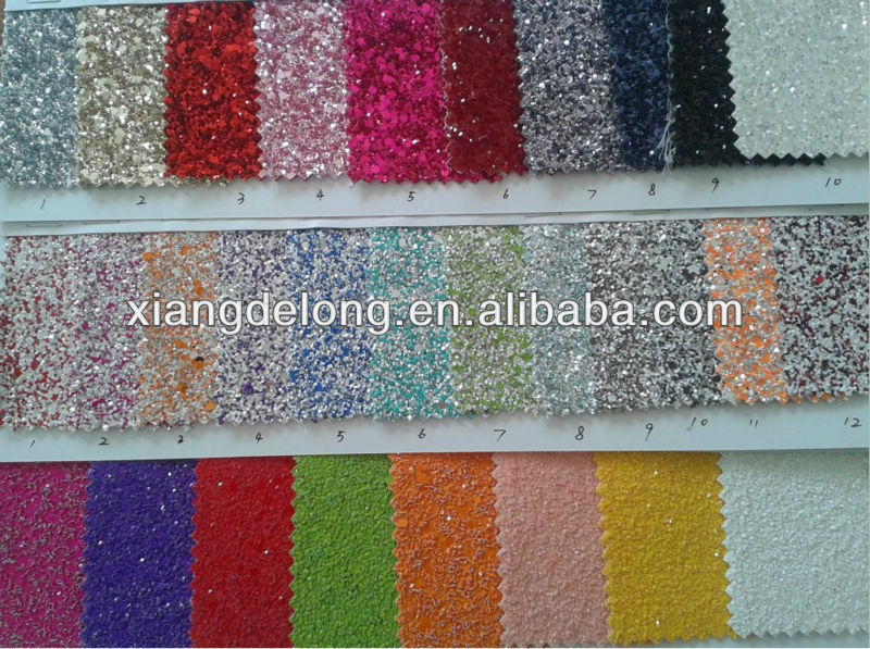 hot sale glitter leather with tc backing