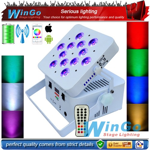 12x18w 6in1 dmx wireless battery powered uplighting led par For wedding decoration mini projector