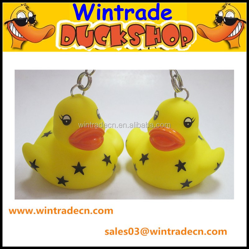 Star printed yellow Duck toys
