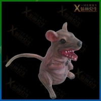 X-MERRY fierce mouse get fed up very well and grow as big monster standing position haunted house Latex Horror props