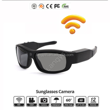 Newly Developed Wi-Fi Grilamid TR90 HD 1080P Sunglasses Camera 15MP
