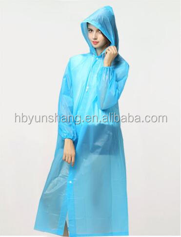 YunShang High quality polyester waterproof rain poncho, raincoat