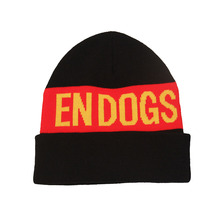 Fashionable funny winter knitted black red beanie warm knit beanies hats for adult