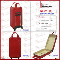 2014 hot selling leather travel luggage travel suitcase