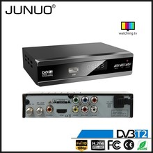 2016 JUNUO new model micro usb tv tuner dvb-t2 digital tv receiver set top box serbia