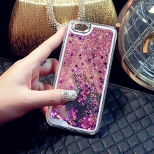 Liquid cell phone case Colorful Glitter 3D Liquid Moving Stars Phone Case For iPhone 6/6 plus/7 7plus