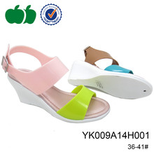 Fashion styles women shoes pvc high heel ladies' wedge sandals