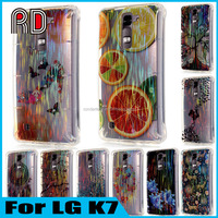 Hot Painting Design Wire Drawing Bling Diamond Cell Phone Cover Case For LG K7