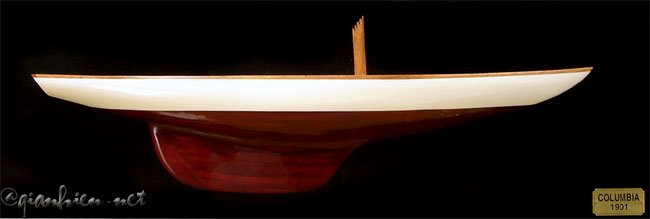 COLUMBIA HALF-HULL WALL PICTURE - WOODEN MODEL BOAT