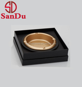 high grade antique brass metal cigar ashtray for smoking accessories