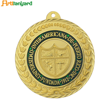 Cheap Award Old Silver Gold Medal with Custom no Minimum Order