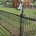 America beautiful low steel fence for garden