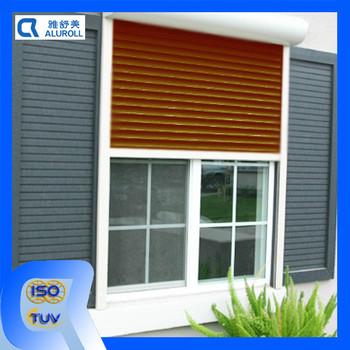 Automatic security window aluminium roller shutter buy aluminium louver security shutters for Interior window security shutters
