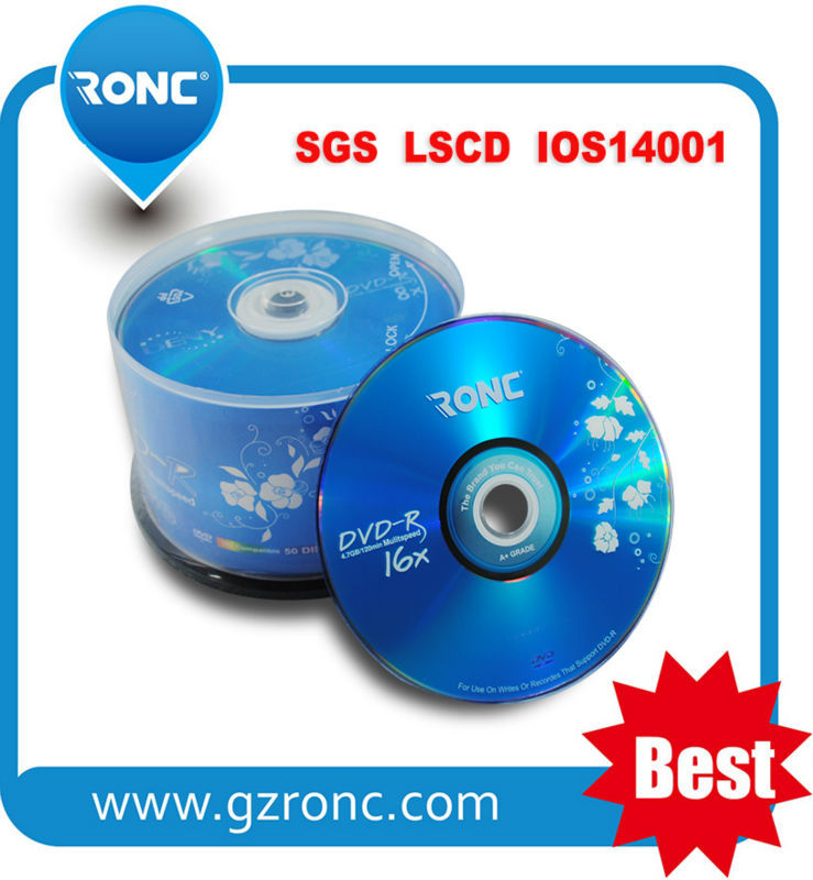 China Factory 100% Virgin Material Blank DVD-R with OEM Design Packing