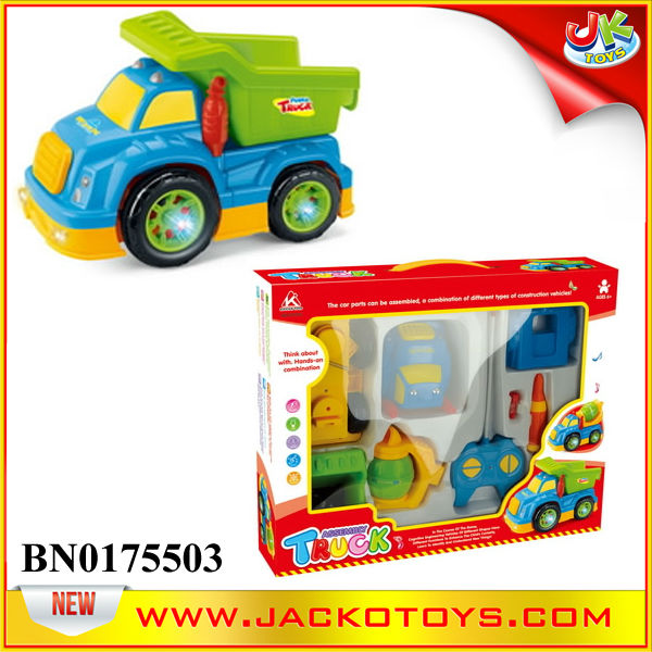 Cartoon Assembling Remote Control Truck For Kid