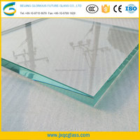 15 mm ultra clear float tempered glass roof price