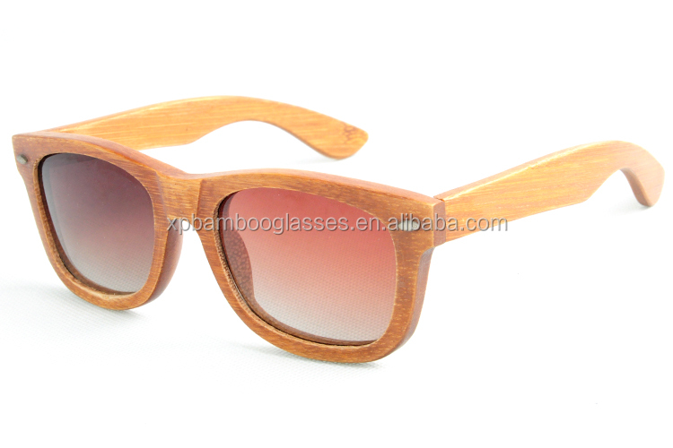 custom usa brand men women bamboo sunglasses retro