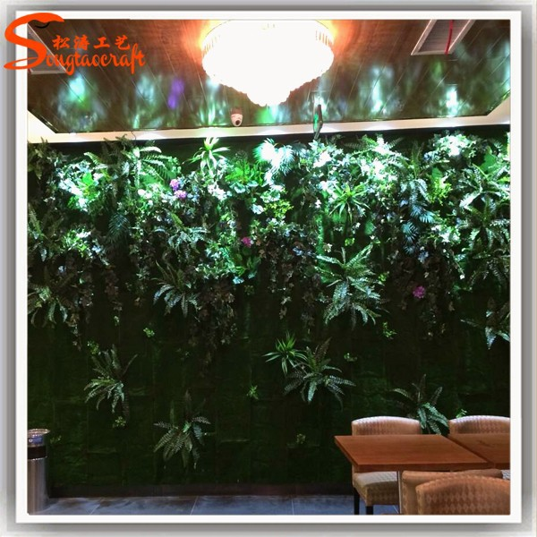 Usine directe gros herbe d coration murale verticale for Decoration murale verticale