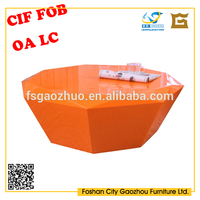 Small orange tea table with high gloss/Glass coffee table,modern coffee table