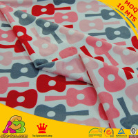 10mts MOQ per color 100% polyester all kids love customize digital print fleece fabric