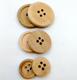 Engraved Round Wood Sewing Buttons For Garment