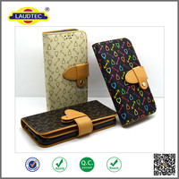 Newest luxury beautiful leather wallet mobile case for Apple iphone6/6plus