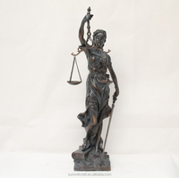 resin antique justice lady statue