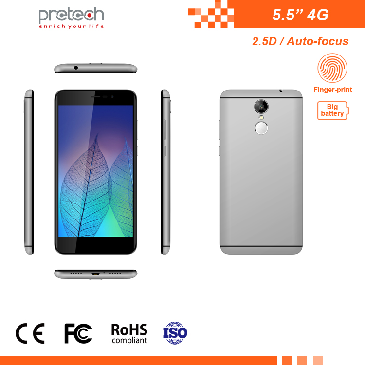 5.5 Inch 2+16G Android 7.0 Quad Core 4G OEM Smartphone Big Battery
