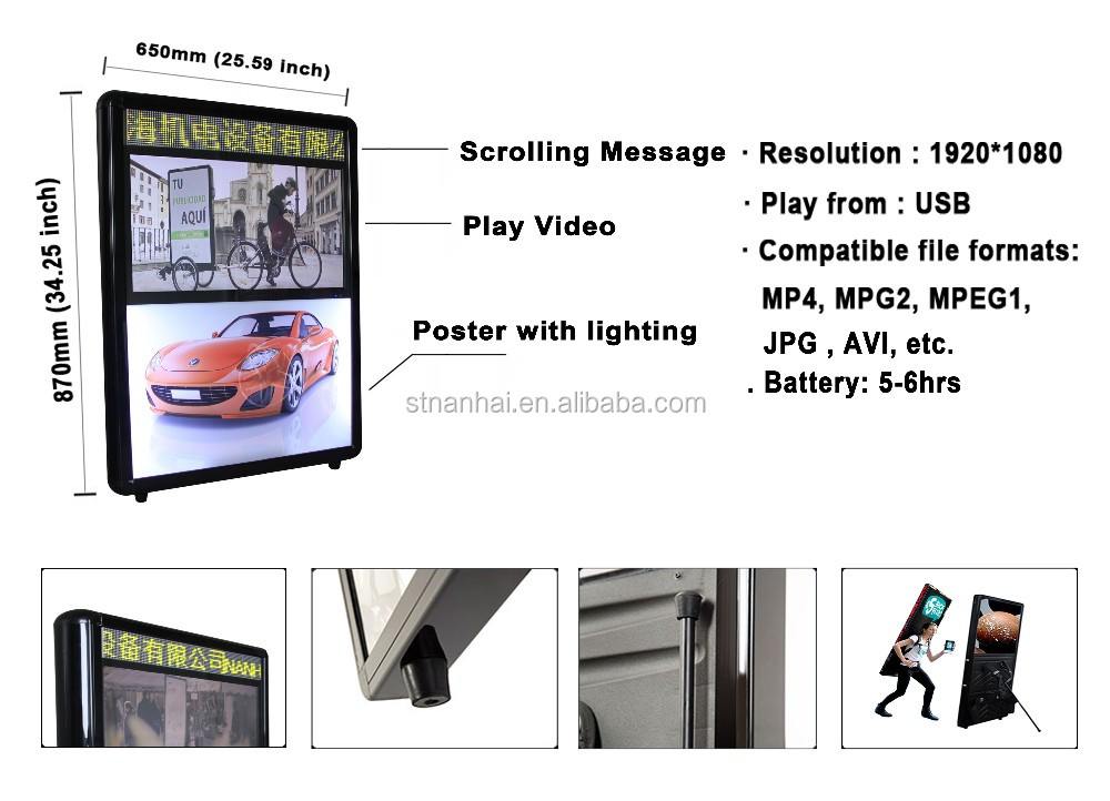J1D-2 LED illuminated backlighting huion tattoo fabric lightbox letters, photography strip a1 led lightbox