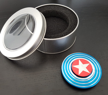 TOFOCO Captain America Tri-Spinner Fidget Toy Pocket Kreisel EDC Hand Spinner For Autism