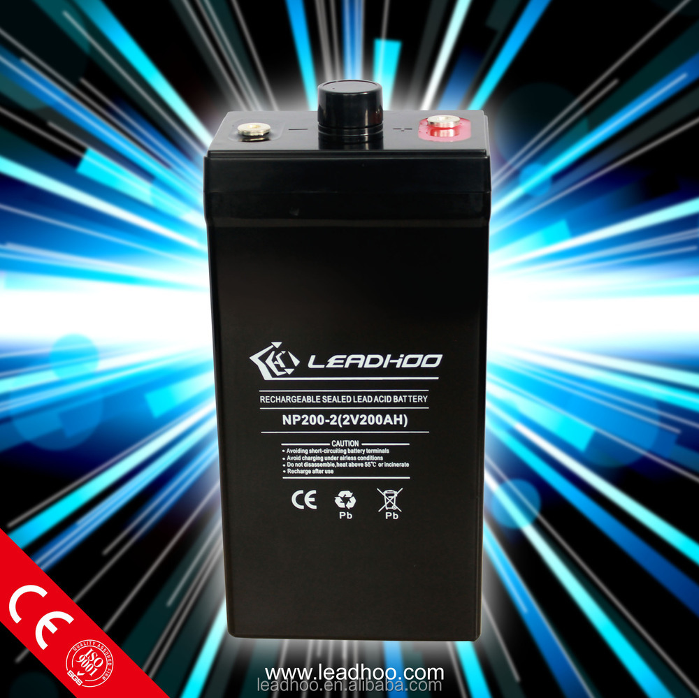 2v 200 amp deep cycle solar sealed lead acid rechargeable battery