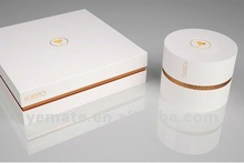 2012 luxury white hot stamping paper gift box for jewelry, fancy paper cosmetic packaging