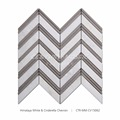 New Chevron Design Marble Mosaic Pattern For Floor And Wall