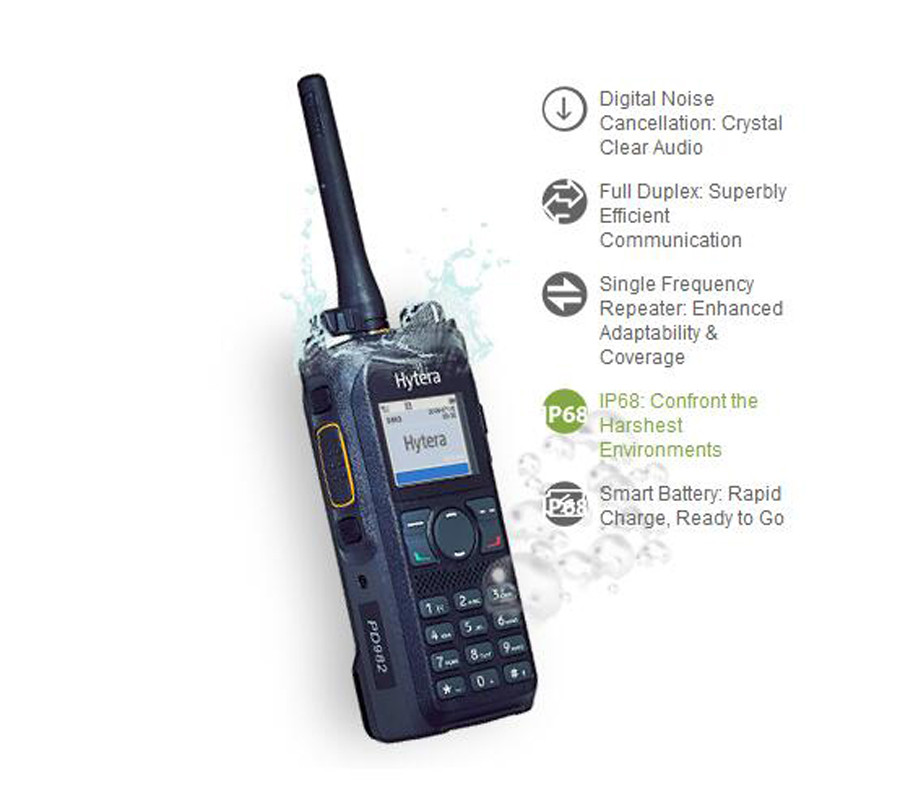 HYT New Launch Full Duplex PD985 PD982 Digital Migration Radio DMR Ham Radio With GPS and Bluetooth Function