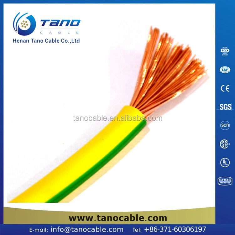 High quality Free sample house wiring cable wire electrical H07V-K electrical cable and wire Central African