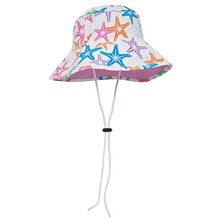 100% black cotton custom kids plain bucket hats with print