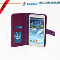Popular Pu Leather Wallet Case for Samsung Galaxy Note3 with ID Card Slots