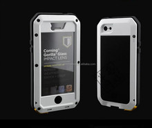 Factory product metal design for waterproof case for iphone 5/5S
