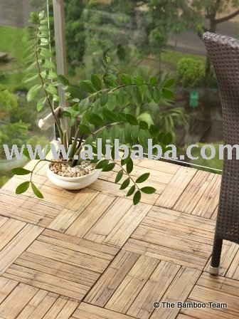Engineered Bamboo Deck Tiles