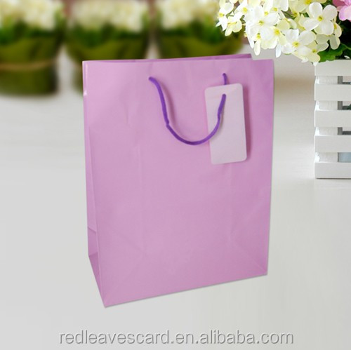 Dainty Design Solid Color Paper Bag , High Quality Paper Bag Customized