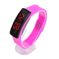 New Arrival! Fashion Sport LED Watches Candy Color Silicone Rubber Touch Screen Digital Watch